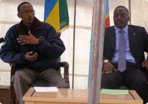 Les Presidents Paul Kagame de la Rwanda et Joseph Kabila de la RDC par Radio Okapi, via Flickr CC.
